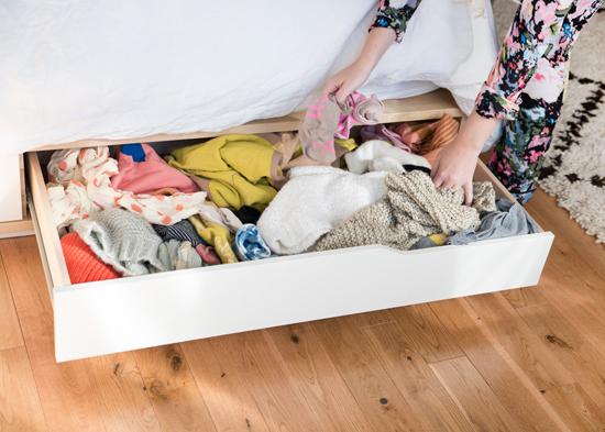 städa upp ditt sovrum